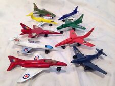 Vintage Lot of 9 Toy Matchbox Zylmax Metal Diecast Airplanes Jets Planes 1970's