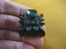 (Y-SPI-211) Black Widow baby spider Onyx stone carving I love little spiders gem