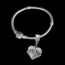 Step Mom bracelet Bangle step mother jewelry gift Stepmom present crystal heart