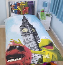 Muppets Postcard Single Panel Duvet Cover Big Ben London New Gift