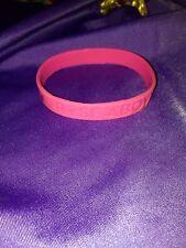 Rise Above Cancer WWE Pink Bracelet ~ Susan G. Komen John Cena Wrestling WWF