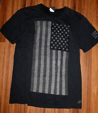 RARE MENS NIKE USATF TRACK & FIELD SOFT COTTON AMERICAN FLAG T-SHIRT 457970 XL