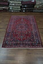 6'4X9'6 Semi Antique Handmade Red Mashad Persian Oriental Area Rug Carpet 6X10
