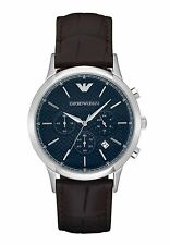 NEW EMPORIO ARMANI AR2494 MENS BROWN CHRONOGRAPH WATCH - 2 YEAR WARRANTY