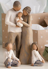 Willow Tree Parents with Baby Son & Daughter in Gift Boxes   23618