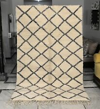 Beautiful Authentic Moroccan Vintage Beni Ourain Rug Handmade 100% Wool