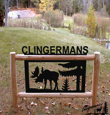 MOOSE SIGN-CLINGERMANS OUTDOOR SIGNS-RUSTIC LOG DECOR  #MOOSE 15243-2
