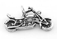 STERLING SILVER MOTORCYCLE CHARM PENDANT