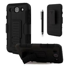 Black Impact Hybrid Belt Clip Combo PC Box Case Cover For LG Optimus G PRO E980