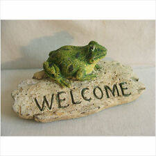 .LATEX MOULD/MOULDS/MOLD  CUTE FROG ON WELCOME STONE