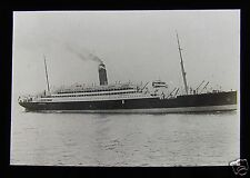 Glass Magic Lantern Slide UNIDENTIFIED STEAMSHIP C1910 SHIP