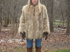 Genuine Coyote Fur Jacket/coat size M Great Casual Style