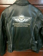 Harley Davidson 100th Anniversary Leather Jacket    Ladies size small (New)