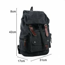 Canvas Backpack for Men Women & Girls Boys Casual Book Bag Sports camping