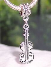 Violin Viola Cello Music Musical Instrument Dangle Bead for Euro Charm Bracelets