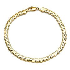 """Fashion 18K Yellow Gold Filled Mens/Womens Bracelet Chain 8.6"""" Charms Link Hot"""