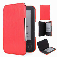 TY Red Slim Leather Protector Pouch Case Cover For Amazon Kindle 3