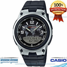Casio AW80-1A2V Men's Digital & Analogue Watch 10 Year Battery 50M WR World Time