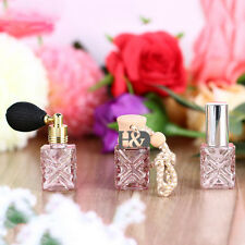 H&D Pink Set 3 Empty Glass Perfume Bottle Atomizer Refillable Travel Gift 12ml