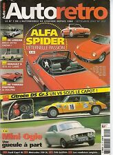 AUTO RETRO 312 ALFA ROMEO SPIDER R8 MAJOR MINI OGLE DE TOMASO PANTERA DeLorean