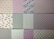 12 SHEET BACK TO BASICS BERRY BLUSH TASTER PACK 8 x 8 CARD MAKING BACKING PAPER
