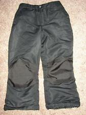 FADED GLORY Black Insulated Ski Nylon Pant Snow Board Skiing boys girls L 10 12