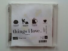 "Stampin Up Retired  """" Things I Love """" Clear Mount Stamp Set"