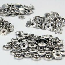 SET 50 BOUTONS PRESSION ROND EN METAL 10MM A COUDRE COUTURE