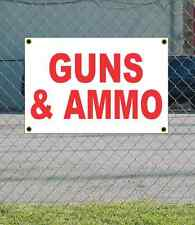 2x3 GUNS & AMMO Red & White Banner Sign NEW Discount Size & Price FREE SHIP