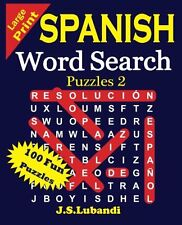 Large Print Spanish Word Search Puzzles 2 Volume 2 Spanish Edition