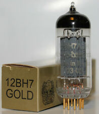 Electro Harmonix 12BH7 GOLD PIN pre-amp tubes, Brand New, Balanced Triodes