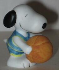 1990 Ceramic Snoopy Holding Basketball Figurine by Willitts Designs 1.5""