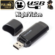 HD 1080P Mini USB2.0 Flash Drive Spy Hidden Camera Card Reader Motion Detection