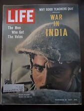 Life Magazine War in India Indian Soldier Ready for Battle November 1962