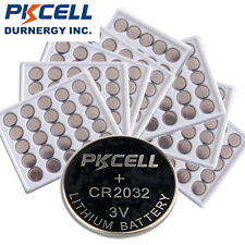 200pcs CR2032 DL2032 ECR-2032 5004LC 3V Lithium Battery Button Coin Cell PKCELL