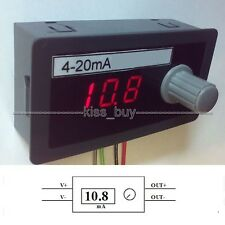 DC 12V 24V 4-20mA Signal Source Signal Generator Constant Current Source 0.01mA