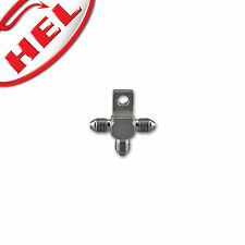 """HEL PERFORMANCE T Piece Male Fitting Stainless Steel 3/8"""" x 24, -3 AN JIC"""