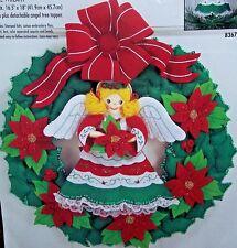 """Bucilla """"ANGEL WREATH"""" Nativity Felt Vintage Christmas Wreath Kit Check out Sale"""