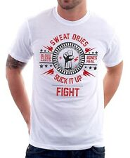 SUCK IT UP and FIGHT CLUB Project MAYHEM Tyler Durden BLOOD t-shirt 9639