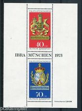 ALLEMAGNE FEDERALE, 1973, BLOC timbre 8, ARMOIRIES, CONGRES PHILATELIE, neuf**