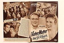 IFB Nr.4607 Filmbühne Programm Vater Mutter und 9 Kinder 50er mit Heinz Erhardt