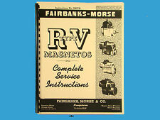 Fairbanks Morse Magneto Service & Parts Manual for RV Series Mags *434