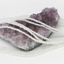 100 pcs 3x2mm Chinese Crystal Glass Beads Faceted Rondelle White Agate AB
