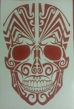 Tribal Skull mask in Red - vinyl car sticker, decals, graphic, wall art laptop