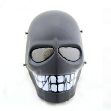 Army Wire Mesh Skull Smile Full Face Mask Paintball Cosplay Airsoft Halloween