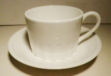 "WEDGWOOD ""COLOSSEUM WHITE CUP & SAUCER BONE CHINA ~Excellent-to- NEW~ENGLAND"