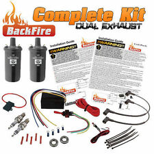 BackFire Dual Universal Automotive Exhaust Flame Thrower Fire Throwing Kit