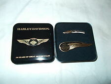 NEW 2 PIN'S HARLEY DAVIDSON 110th Winged Anniversary and 100th PIN.