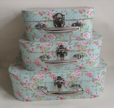 Retro / Vintage / shabby chic floral rose  Storage Suitcase Boxes - Set of 3