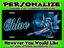 FAIRY Fantasy Mythical Magic 2 Background PERSONALIZED Monogrammed License Plate